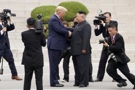 North Korean leader Kim Jong Un and US President Donald Trump have met three times since June last year but a deal for North Korea to dismantle its nuclear and missile programmes has proved elusive [File: Kevin Lamarque/Reuters]