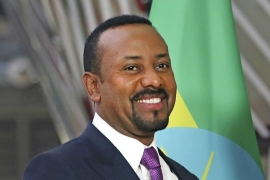 Ethiopian Prime Minister Abiy Ahmed announced the creation of the Prosperity Party in November 2019 [File: AP/Francisco Seco]