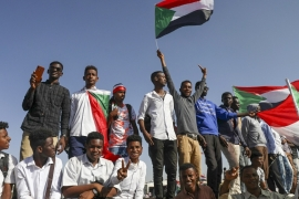 People gather as they celebrate first anniversary of their protest movement in Khartoum [ AP Photo]
