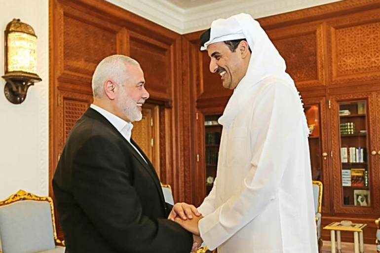 It was Haniya's first visit to Qatar since he became leader of Hamas's political bureau in 2017 [Screengrab/Al Jazeera]