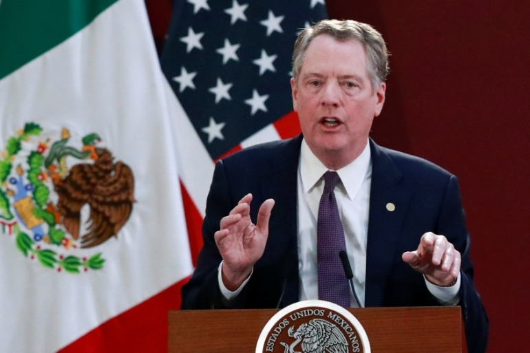 US Trade Representative Robert Lighthizer says the success of the 'phase one' trade deal with Beijing will rest with Chinese officials [File: Henry Romero/Reuters]