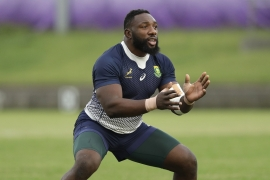 The most capped prop in Springbok history, 34-year-old Mtawarira retired from international rugby after helping the team win the record-equaling World Cup title in November [Mark Baker/AP]