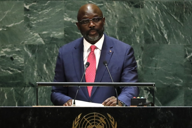 Liberian President George Weah said he would install a special prosecutor for rape in the country, as well as set up a national sex offender registry [File: Lucas Jackson/Reuters]