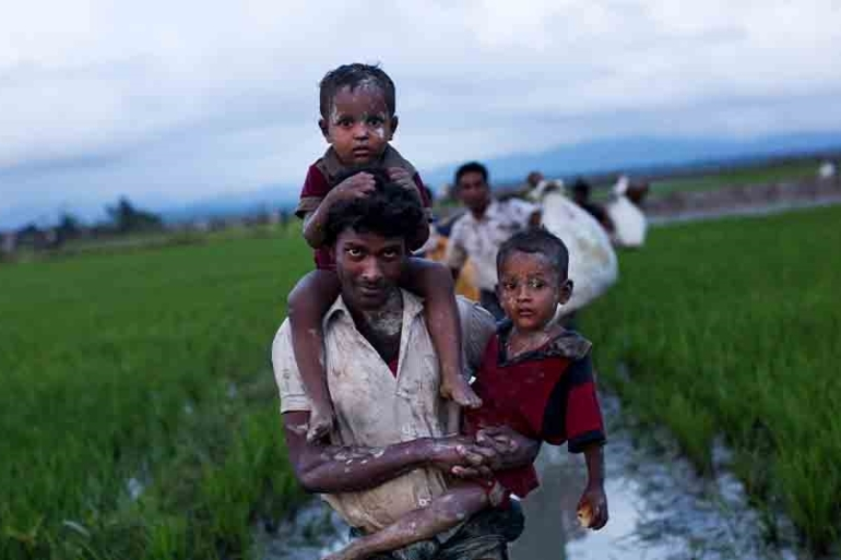 Hundreds of thousands of Rohingya fled Myanmar after a bloody military crackdown in 2017, leading to accusations of genocide [File: Bernat Armangue/AP Photo]