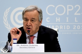 Guterres, 71, assumed office in January 2017 for a five-year term that finishes at the end of this year [File: Cristina Quicler/AFP]
