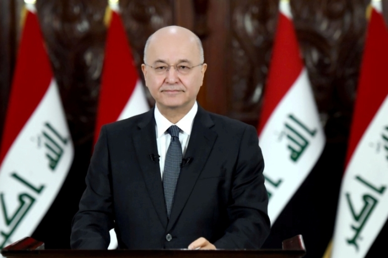 Iraqi President Barham Salih said that appointing Asaad al-Eidani would not placate protesters demanding an independent prime minister  [Reuters]
