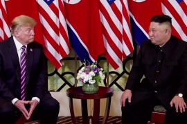 Trump and Kim have met three times but have not reached a nuclear deal breakthrough [File: EPA-EFE/POOL]