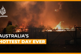 Australia's hottest day ever - twice. [Daylife]