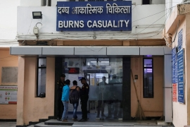 The burns casualty ward of a hospital in New Delhi where the 23-year-old rape victim was being treated [Adnan Abidi/Reuters]