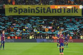 Catalan independence protests kick off at El Clasico match