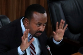 Ethiopia's Prime Minister Abiy Ahmed speaks during a session with the members of the Parliament in Addis Ababa, Ethiopia, October 22, 2019. [Tiksa Negeri/Reuters]
