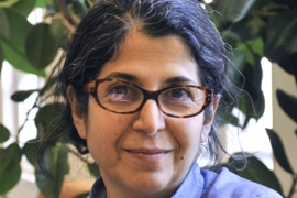 Fariba Adelkhah, 60, is a well-known expert on Iran and Shia Islam at Sciences Po university [Thomas Arrive/Scienes Po/AFP]