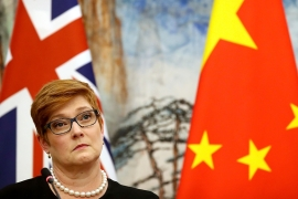 Australian Foreign Minister Marise Payne invoked a recently passed law to veto two agreements signed by the state of Victoria with China [File: Mark Schiefelbein/AP Photo]