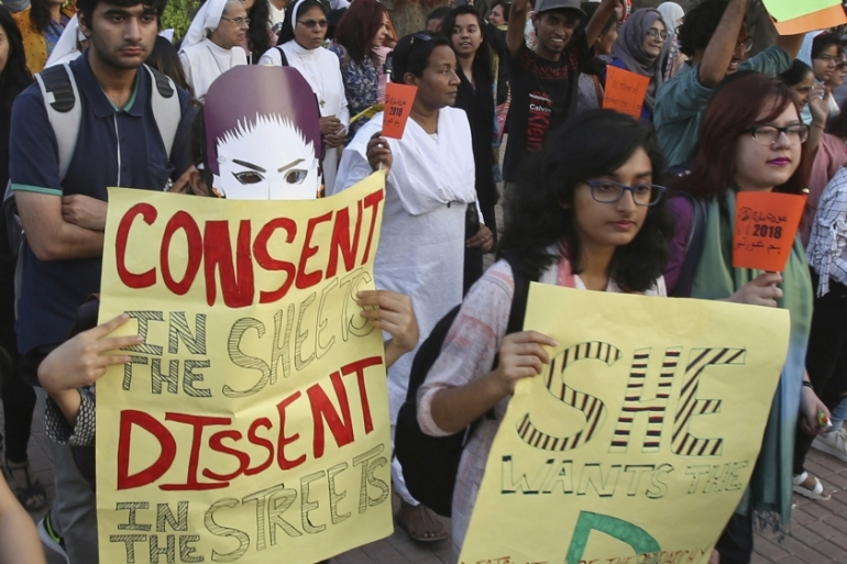 The #MeToo movement has been slow to catch on in Pakistan, where women have fought for their rights for years [File: Fareed Khan/AP]