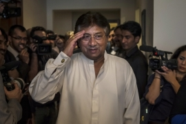 Musharraf has seen his political fortunes wane, as he chose to live in self-imposed exile in the United Arab Emirates [File:Daniel Berehulak/Getty Images]
