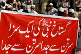 Rallies supporting blasphemy laws and protesting related acquittals are common in Pakistan [File: Reuters]