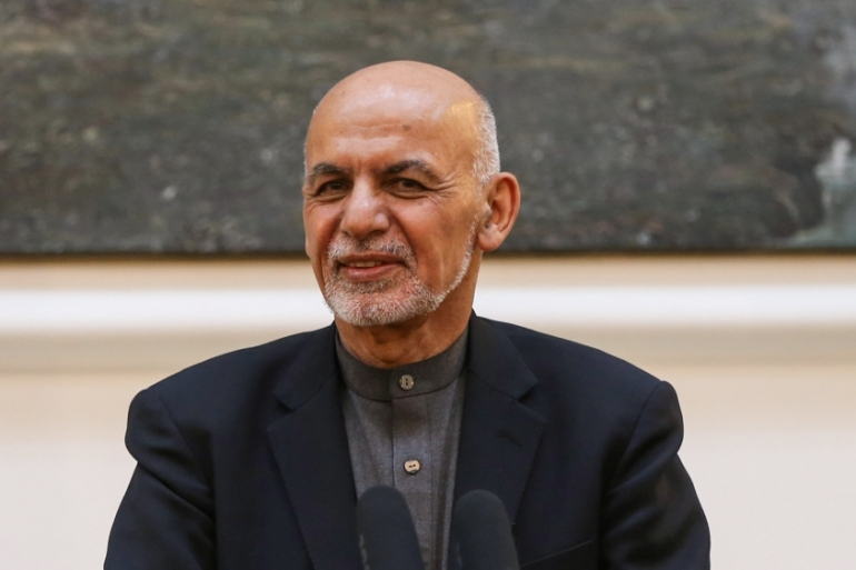 Ghani said said that the progress in talks was 'a welcoming development' [Omar Sobhani/Reuters]
