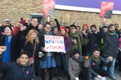 From November 25 to December 4, 40,000 staff members in 60 UK universities went on strike against pension reforms and persistent gender and race pay gaps [Courtesy of Catherine Rottenberg/Al Jazeera]