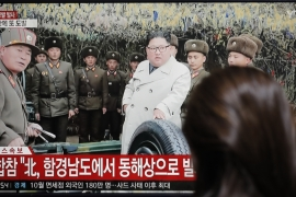 North Korea has been taking provocative actions against the US in recent weeks, calling President Donald Trump and 'erratic old man' while launching a series of missile tests [Lee Jin-man/AP]