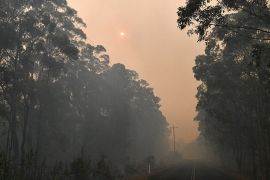 As firefighters continue to battle bushfires, another heatwave is about to sweep the country [AFP]