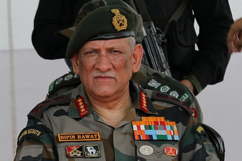 Opposition parties, human rights activists and former army officers have condemned Rawat over his remarks [File: EPA]