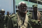 In 2012, Kenyan troops helped Sheikh Ahmed Madobe, leader of the Ras Kamboni, take the Somali port city of Kismayu in southern Somalia  [File: Reuters/Richard Lough]