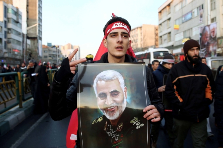 As commander of Iran's Quds force, Soleimani was a key figure in Iran's long-standing campaign to drive US forces out of Iraq [Nazanin Tabatabaee/WANA via Reuters]
