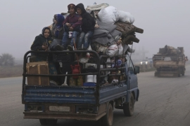 Aid groups have warned the latest violence is only compounding one of the worst humanitarian disasters of the nine-year civil war [File: Ghaith al-Sayed/AP]