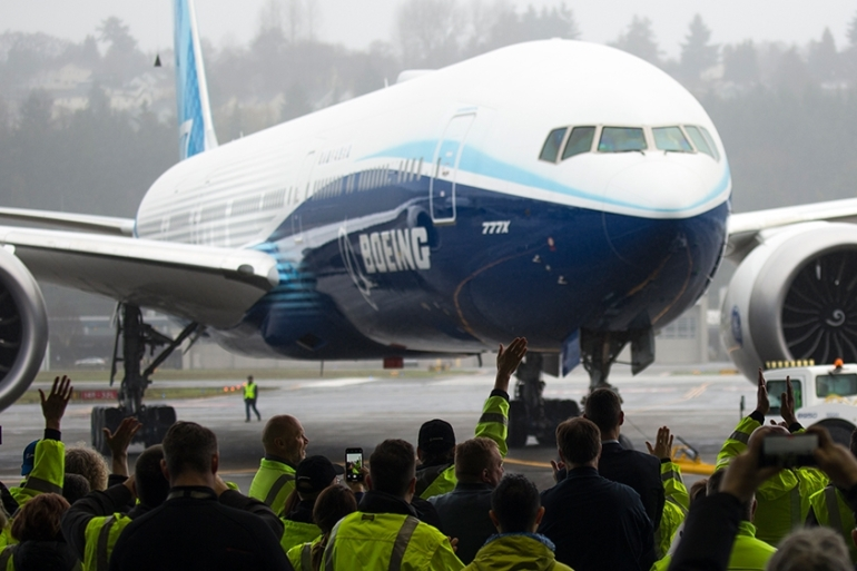 The US and EU have been in a 16-year dispute over illegal subsidies provided to rival planemakers Boeing and Airbus [File: Jason Redmond/AFP]