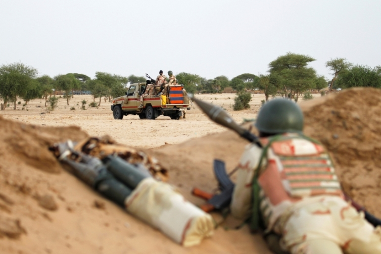 Niger said its army will launch a new military offensive against armed groups [Luc Gnago/Reuters]