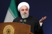 Hassan Rouhani slammed the US for turning its back on the landmark 2015 nuclear deal with world powers [Office of the Iranian Presidency via AP]
