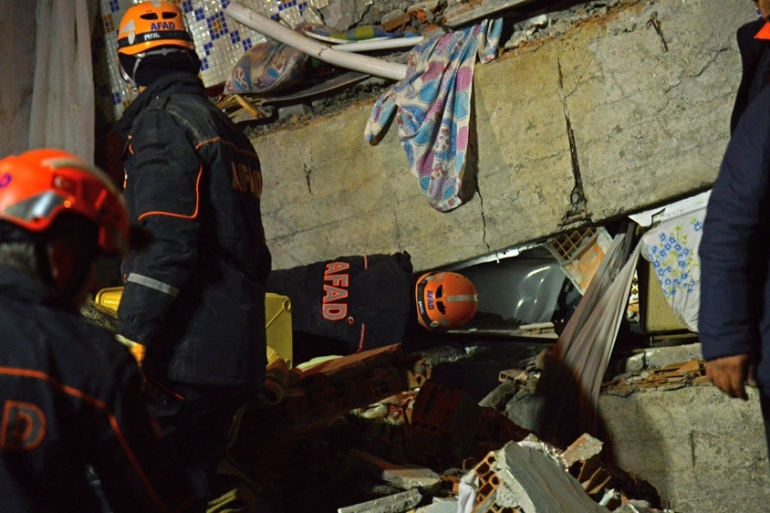 Friday's disaster killed at least 34 people in Elazig and four others in Malatya [Ilyas Akengin/AFP]