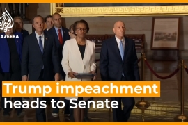 Trump impeachment case sent to Senate for trial [Daylife]