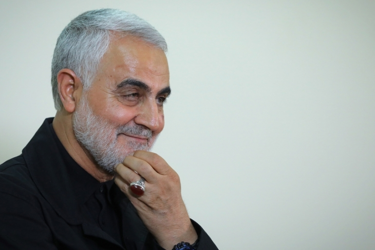 Qassem Soleimani was assassinated by the US in an air strike at Baghdad airport [Iranian Supreme Leader's Office handout/EPA-EFE]