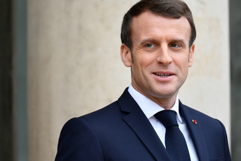 French President Macron says Turkish warships arrived in Libya in the last few days [Reuters]