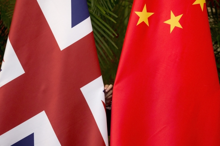 UK-China relations have become increasingly strained as the UK has criticised Beijing over its crackdowns in Hong Kong and Xinjiang [File: Andy Wong/Reuters]