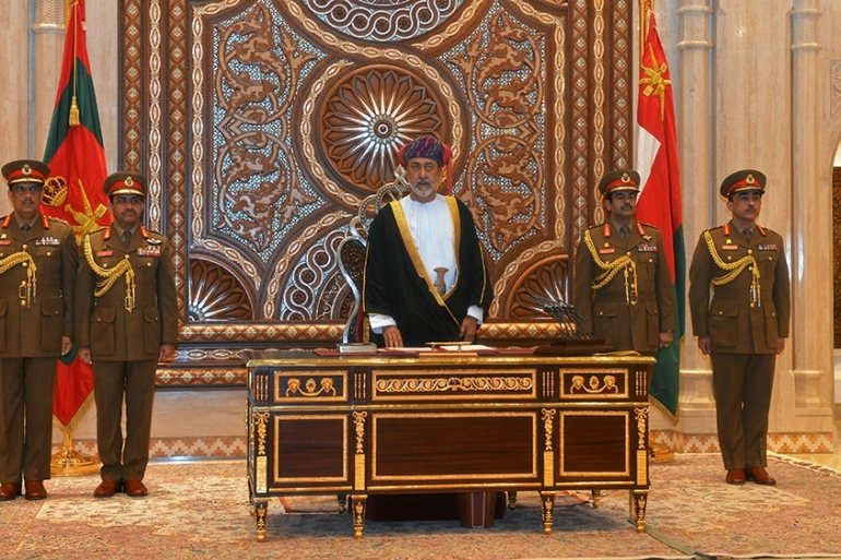 Sultan Haitham has maintained his cousin's neutral stance in foreign affairs but has made various domestic changes [File: Sultan Al Hasani/Reuters]