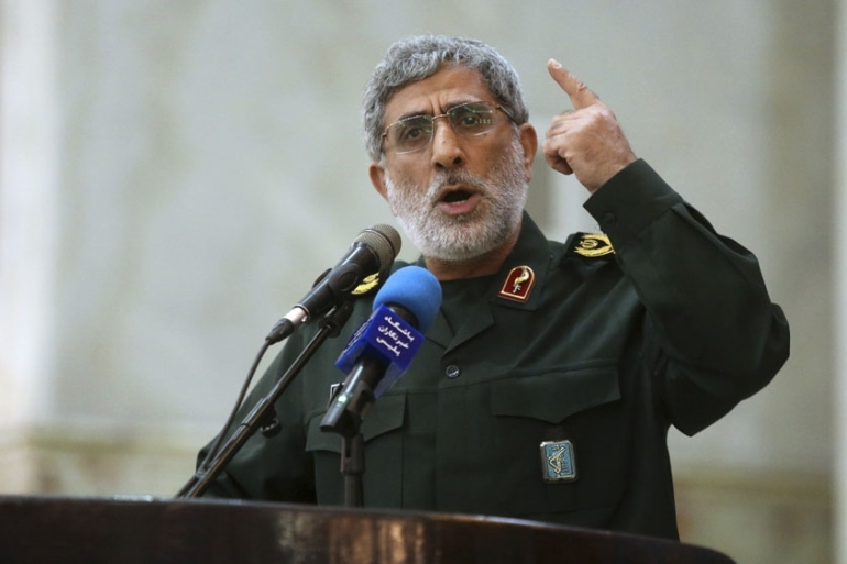 In the few public statements Qaani has made, he denounced the US and Israel [File: Hossein Zohrevand/Tasnim via AP]