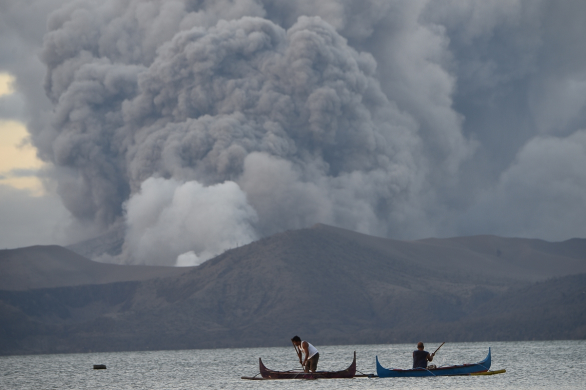 The Philippines Fear Another Eruption Of The Taal Volcano; Thousands Of People Evacuated