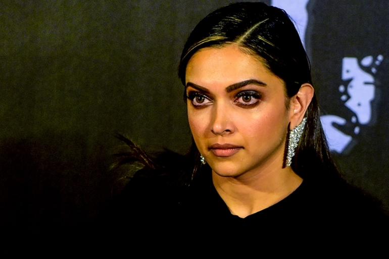Deepika Padukone looks on as she attends the trailer launch of her upcoming Hindi film Chhapaak in Mumbai [File: Sujit Jaiswal/AFP]