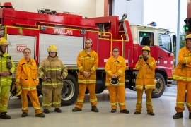 The volunteer firefighting crew in Wallan in the Australian state of Victoria have battled truck high flames this fire season but are undeterred [Tracey Shelton/Al Jazeera]
