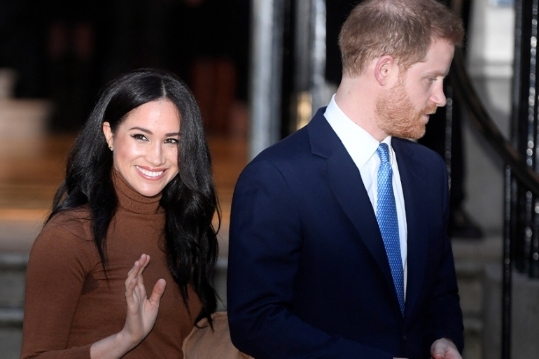 Harry expressed 'great sadness' in his first remarks on a settlement allowing him and his wife Meghan to give up their lives as 'working' royals and spend most of their time in North America [File: Toby Melville/Reuters]