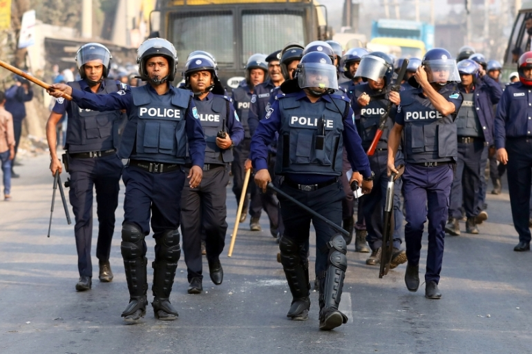 Police said they were also seeking to arrest Orchita Sporshia, the 27-year-old actress who played the rape victim [File: Mohammad Ponir Hossain/Reuters]