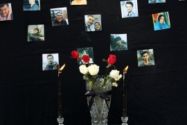 The head of the coroner's office in Tehran said 123 of the 176 victims had been identified, ILNA news agency reported [Abedin Taherkenareh/EPA]