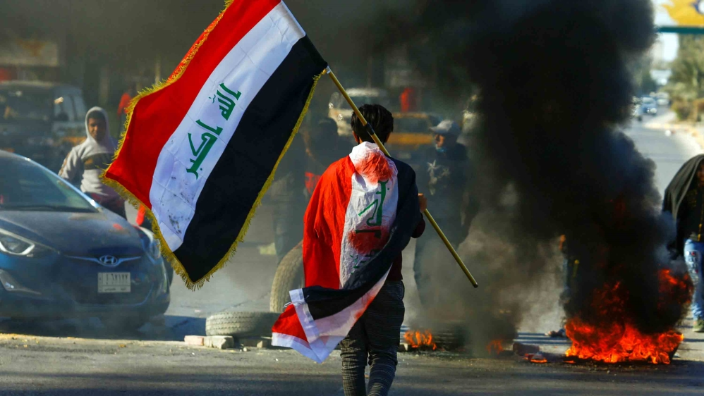 Challenges in Iraq mount a year after anti-gov't protests erupted