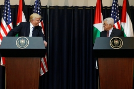 Tensions have soared between the Palestinian Authority and the US since Trump took office [File: Jonathan Ernst/Reuters]