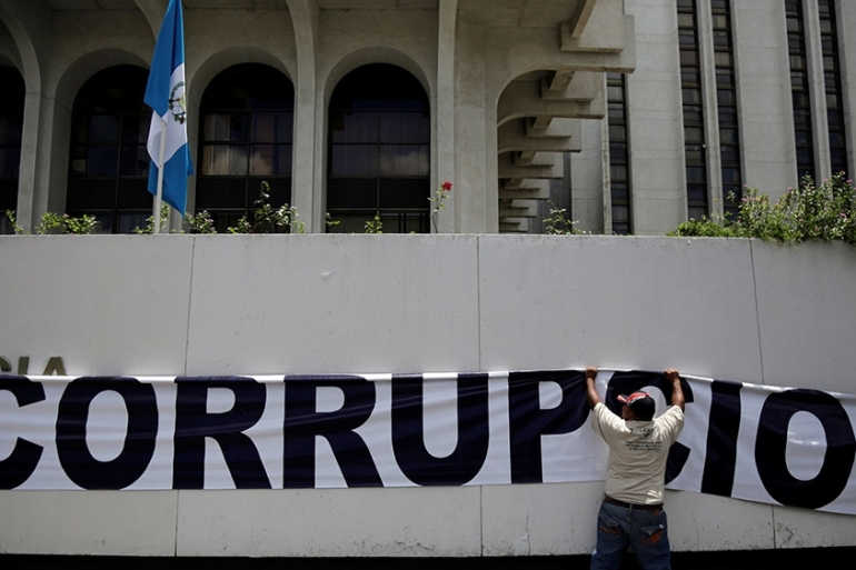 Lobbying by powerful corporate interest groups and opaque political financing are hindering anti-corruption efforts, said Transparency international [File: Luis Echeverria/Reuters]
