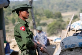 The AA is fighting for greater autonomy in the western Rakhine state and over the past two years had become one of the most formidable forces in challenging the Myanmar army [File: Hein Htet/EPA]