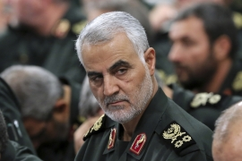 Two unnamed US officials told Reuters news agency that the US carried out the air attack that killed Soleimani [File: Office of the Iranian Supreme Leader via AP]
