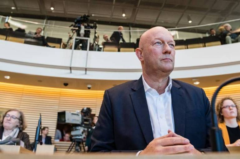 Thomas Kemmerich, Thuringia's new state president, was elected to office in Erfurt with the assistance of the far-right AfD [Jens Schlueter/AFP]